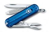 VICTORINOX瑞士刀-Classic SD 58mm-透明藍