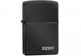 Zippo 防風火機High Polish Black Zippo Logo